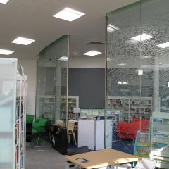 STRUCTURAL ART GLASS CURVED PARTITION SYSTEM